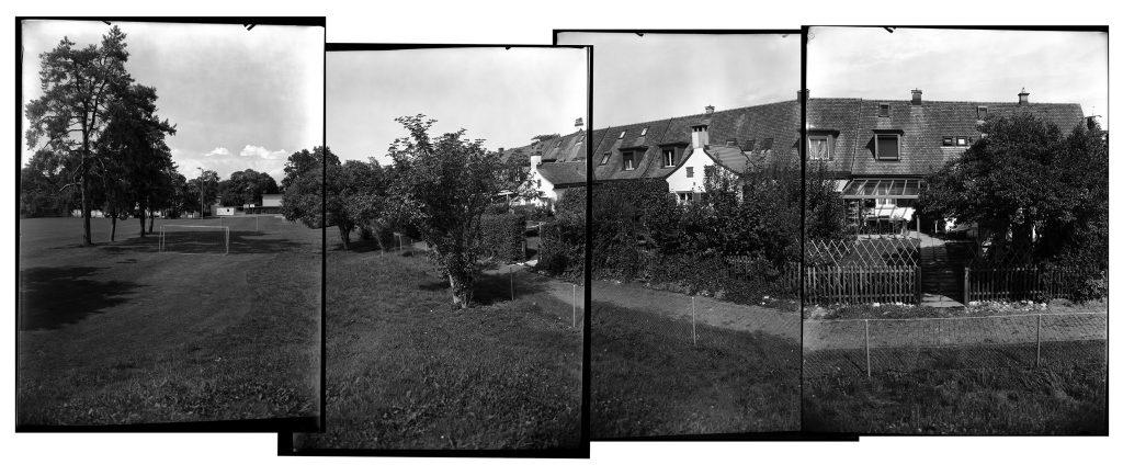 Einfamilienhäuser für die Heimstättengenossenschaft, Winterthur, 1923–1925. Gartenansicht der Weberstrasse 12–42